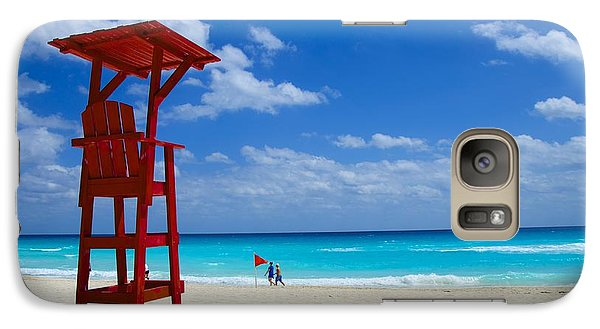 Galaxy Case featuring the photograph Lifeguard Chair  by Sarah Mullin