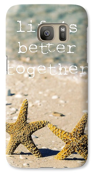 Life's Better Together Galaxy Case by Edward Fielding