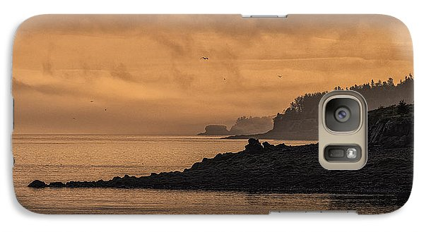 Galaxy Case featuring the photograph Lifting Fog At Sunrise On Campobello Coastline by Marty Saccone