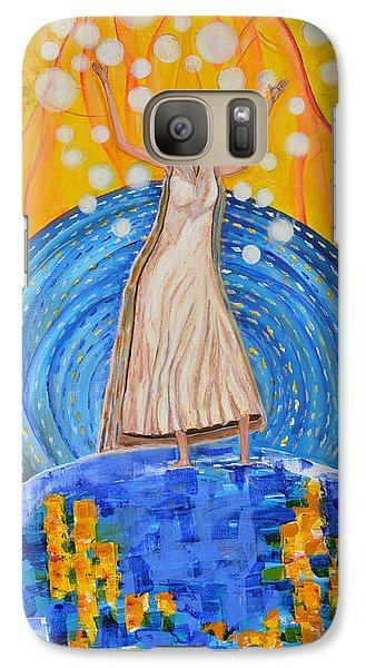 Galaxy Case featuring the painting Lifting The Veil by Cassie Sears
