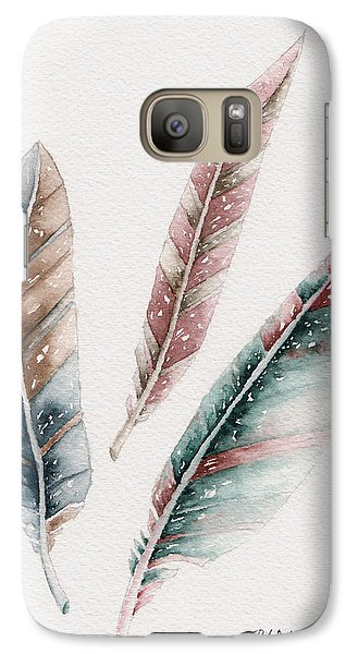 Galaxy Case featuring the painting Light As A Feather by Rebecca Davis