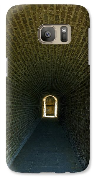 Galaxy Case featuring the photograph Light At The End by Paula Porterfield-Izzo