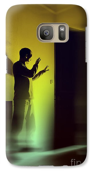 Galaxy Case featuring the photograph Light Behind Door by Craig B