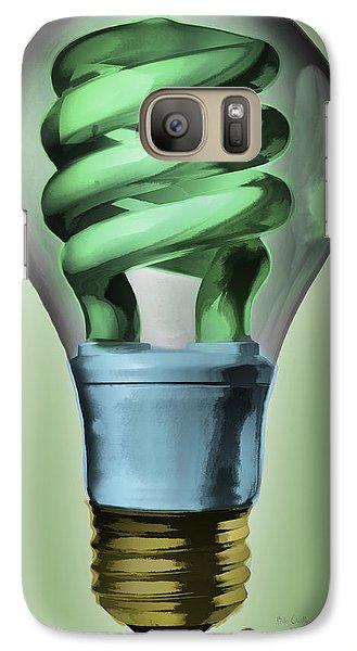 Light Bulb Galaxy S7 Case by Bob Orsillo