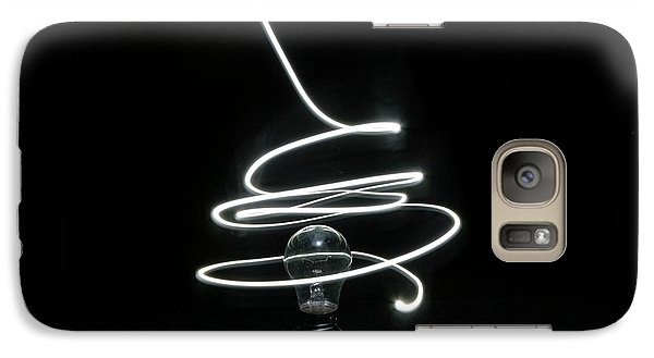 Galaxy Case featuring the photograph Light Bulb Light Painting by Barbara West