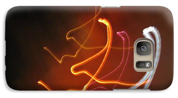 Galaxy Case featuring the photograph Light Drawing. I..i..i... Dancing Lights Series by Ausra Huntington nee Paulauskaite