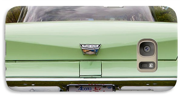 Galaxy Case featuring the photograph Light Green Classic Car by Mick Flynn