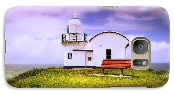 Galaxy Case featuring the photograph Light House On The Hill 01 by Kevin Chippindall