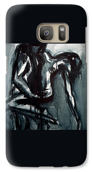 Galaxy Case featuring the painting Light In The Darkness by Jarmo Korhonen aka Jarko