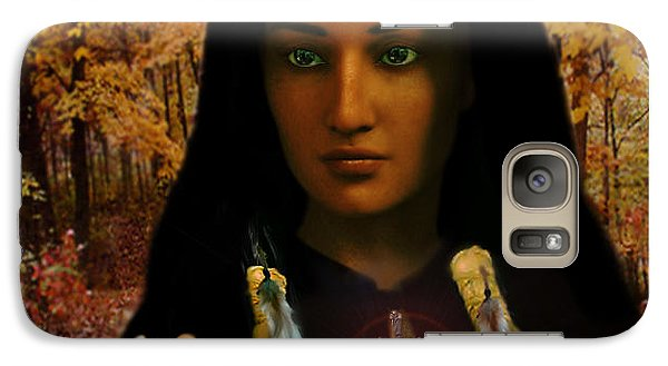Galaxy Case featuring the painting Saint Kateri Tekakwitha Light In The Darkness by Suzanne Silvir