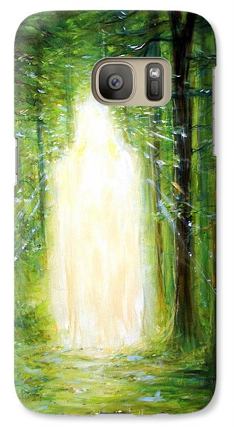 Galaxy Case featuring the painting Light In The Garden by Heather Calderon