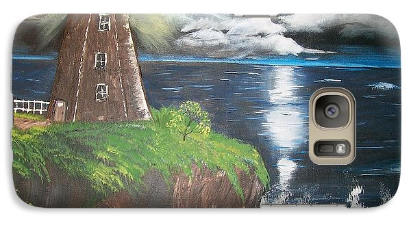 Galaxy Case featuring the painting Light Of The Moon by Sharon Duguay
