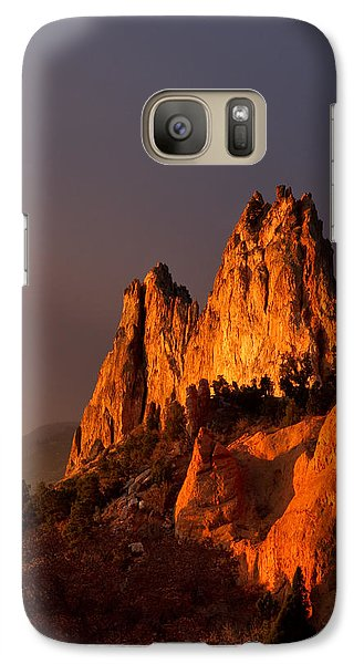 Galaxy Case featuring the photograph Light On The Rocks by Ronda Kimbrow