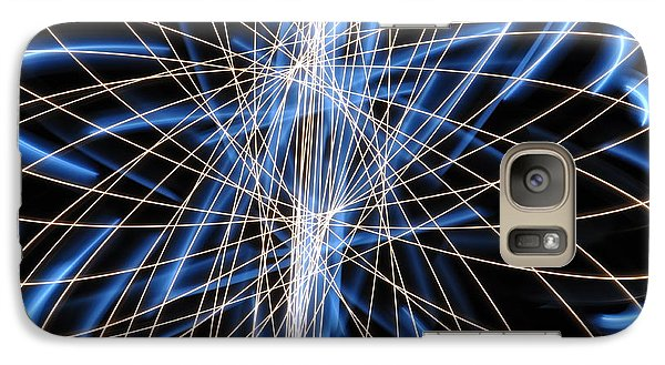 Galaxy Case featuring the photograph Light Patterns 006 by Todd Soderstrom