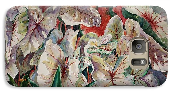 Galaxy Case featuring the painting Light Play Caladiums by Roxanne Tobaison