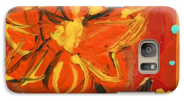 Galaxy Case featuring the painting Light Rain by Mary Carol Williams