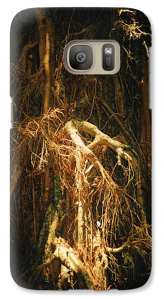 Galaxy Case featuring the photograph Light Roots by Evelyn Tambour