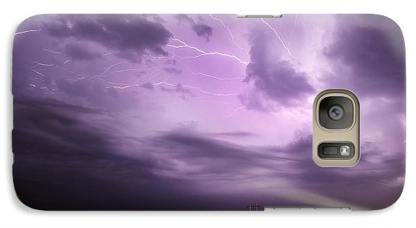 Galaxy Case featuring the photograph Light Show Over Yorkton by Ryan Crouse