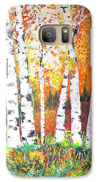 Galaxy Case featuring the painting Sunrise On Birch by Gary Smith