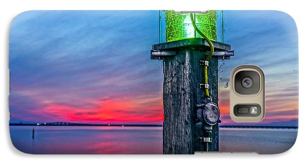 Galaxy Case featuring the photograph Light Tower In Evening Gloom by Alex Weinstein