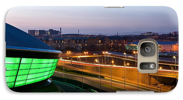 Galaxy Case featuring the photograph Light Trails On The Expressway by Stephen Taylor