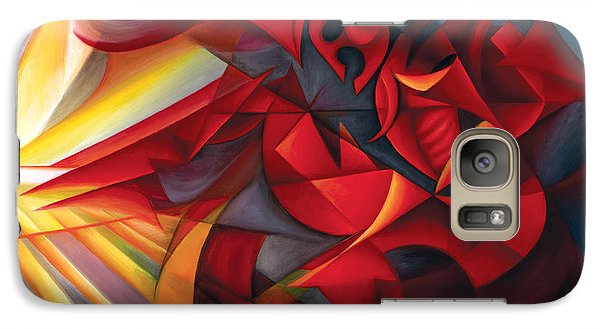 Galaxy Case featuring the painting Light Warrior by Tiffany Davis-Rustam