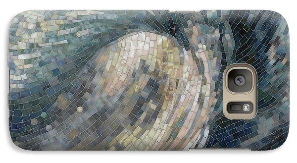 Galaxy Case featuring the painting Light Wave  by Mia Tavonatti