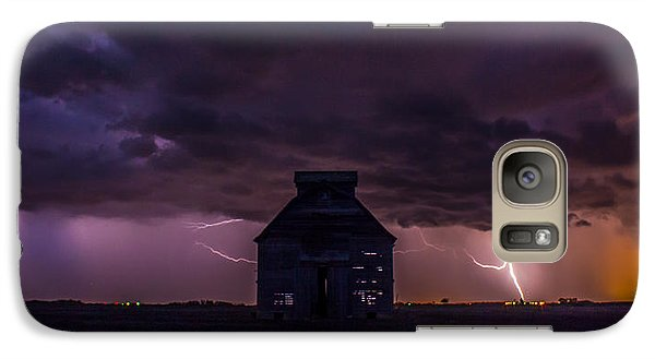 Galaxy Case featuring the photograph Lightening Against The Barn by Dawn Romine
