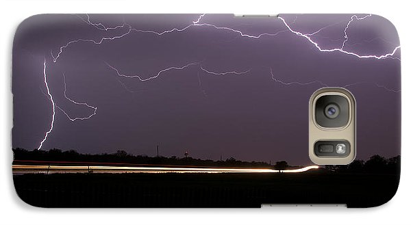 Galaxy Case featuring the photograph Lightening Bolts by Charles Beeler