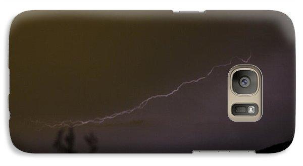 Galaxy Case featuring the photograph Lightening Over The Salton Sea by Carolina Liechtenstein