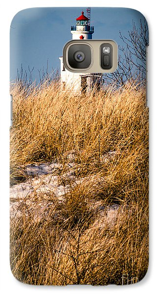 Galaxy Case featuring the photograph Lighthouse Amongst The Tall Grass by Mark David Zahn