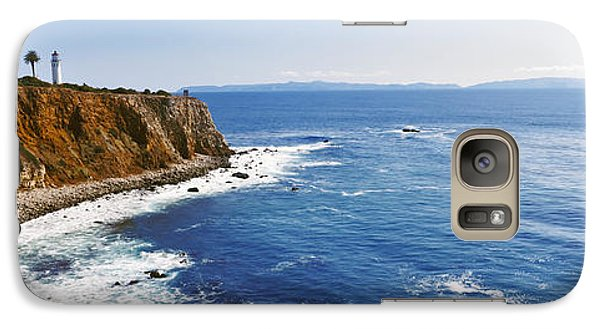 Lighthouse At A Coast, Point Vicente Galaxy Case by Panoramic Images