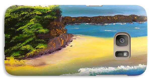 Galaxy Case featuring the painting Lighthouse At Nobbys Beach Newcastle Australia by Pamela  Meredith