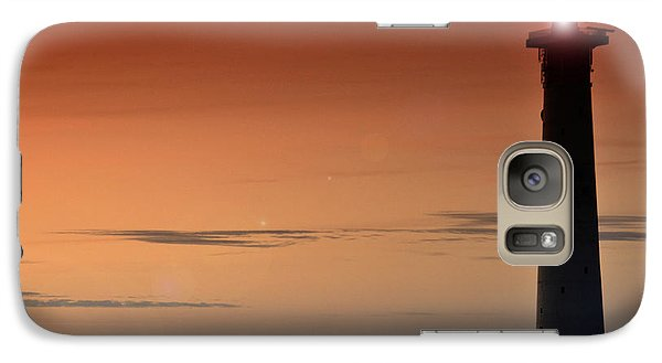 Galaxy Case featuring the photograph Lighthouse At Sunrise by Julis Simo