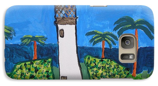 Galaxy Case featuring the painting Lighthouse by Artists With Autism Inc