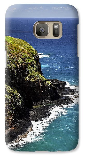 Galaxy Case featuring the photograph Lighthouse By The Pacific by Debbie Karnes