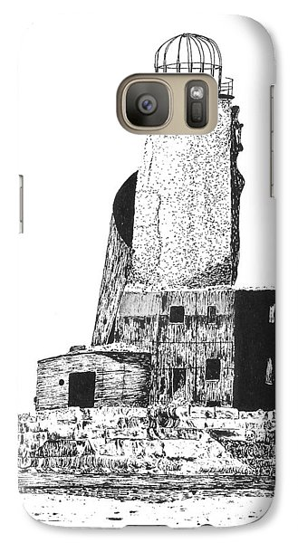 Galaxy Case featuring the drawing Lighthouse by C Sitton