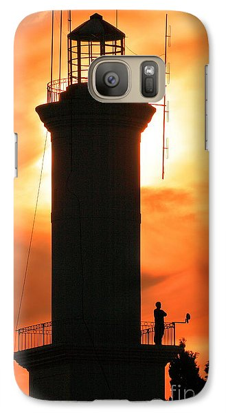 Galaxy Case featuring the photograph Lighthouse I by Bernardo Galmarini