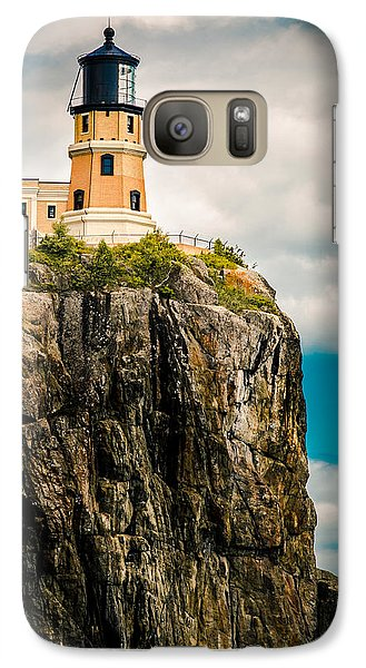 Galaxy Case featuring the photograph Lighthouse On Split Rock by Mark David Zahn
