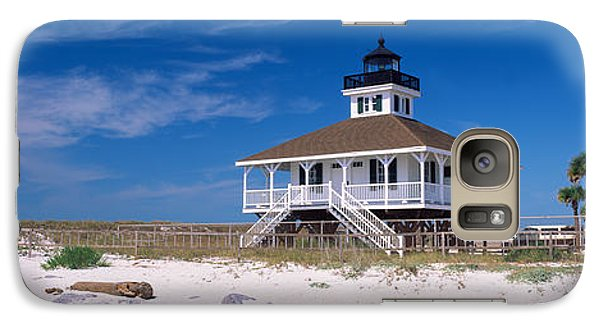 Lighthouse On The Beach, Port Boca Galaxy S7 Case by Panoramic Images