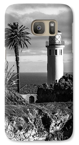 Galaxy Case featuring the photograph Lighthouse On The Bluff by Jerry Cowart