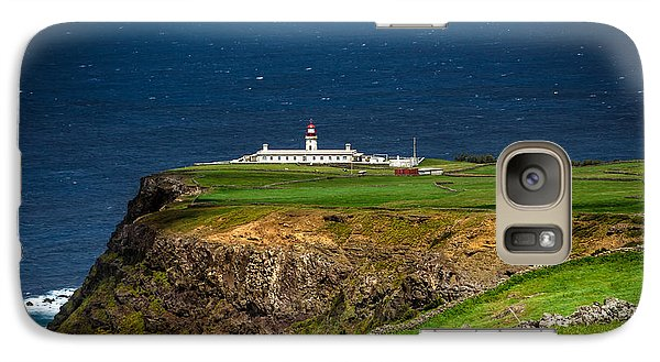 Galaxy Case featuring the photograph Lighthouse Ponta Do Albernaz by Edgar Laureano