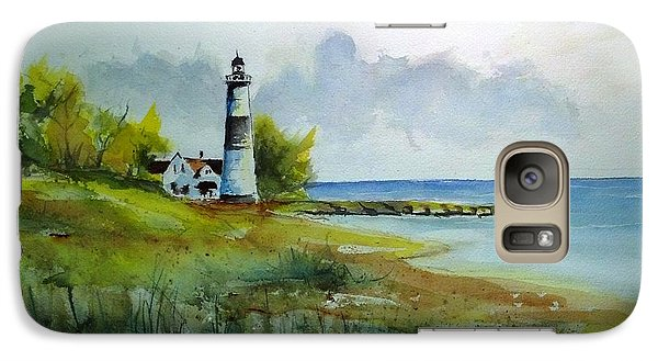 Galaxy Case featuring the painting Lighthouse Sold by Richard Benson