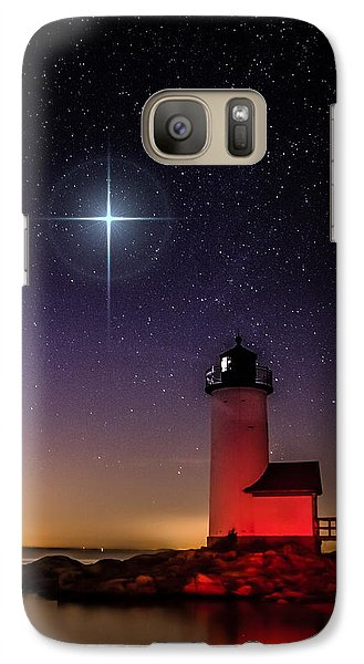 Galaxy Case featuring the photograph Lighthouse Star To Wish On by Jeff Folger