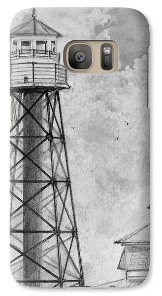Galaxy Case featuring the drawing Lighthouse Sumter Landing by Jim Hubbard