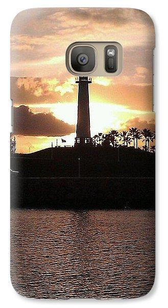 Galaxy Case featuring the photograph Lighthouse Sunset by John Glass