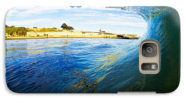 Galaxy Case featuring the photograph Lighthouse Wave 1 by Paul Topp