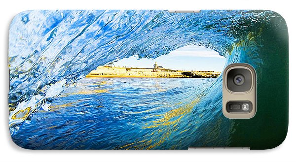 Galaxy Case featuring the photograph Lighthouse Wave 2 by Paul Topp