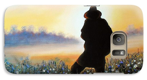 Galaxy Case featuring the painting Lighthunter by Vesna Martinjak