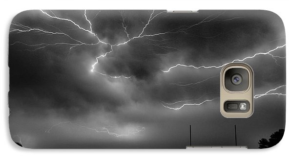 Galaxy Case featuring the photograph Lightning 2 by Richard Zentner